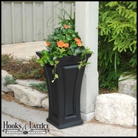 Camden Tall Tapered Patio Planter - Black