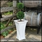 Camden Tall Tapered Patio Planter - White