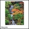 Cascading Waterfalls, Autumn Leaves - Canvas Artwork