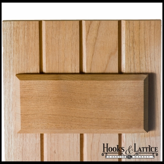 """Cedar Board and Batten Shutters -12"""" Wide with 4 Boards and Cut-Out Design"""