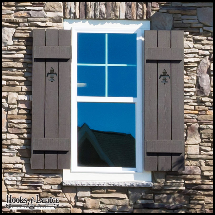 Exterior Cedar Wood Shutters for Windows|Hooks & Lattice