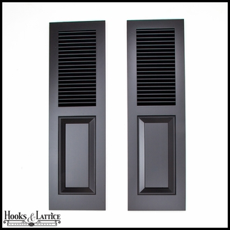Cedar Combination Louvered-Panel Exterior Shutters