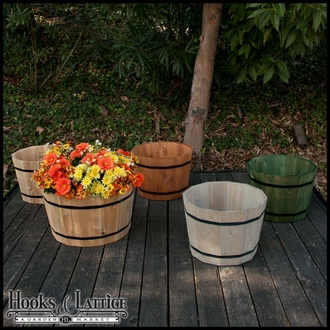 Cedar Half Wine Barrel Planter