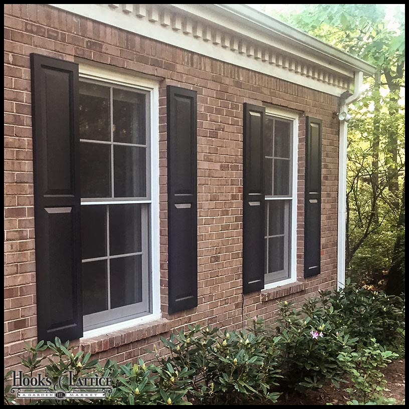 Cedar shutters wood raised panel shutters custom sizes - Pictures of exterior shutters on homes ...