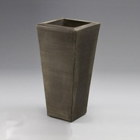 "Chalon 22"" Tapered Planter - Antique Bronze"