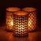 Champagne Hurricane Candle Holder with FlameWave Module