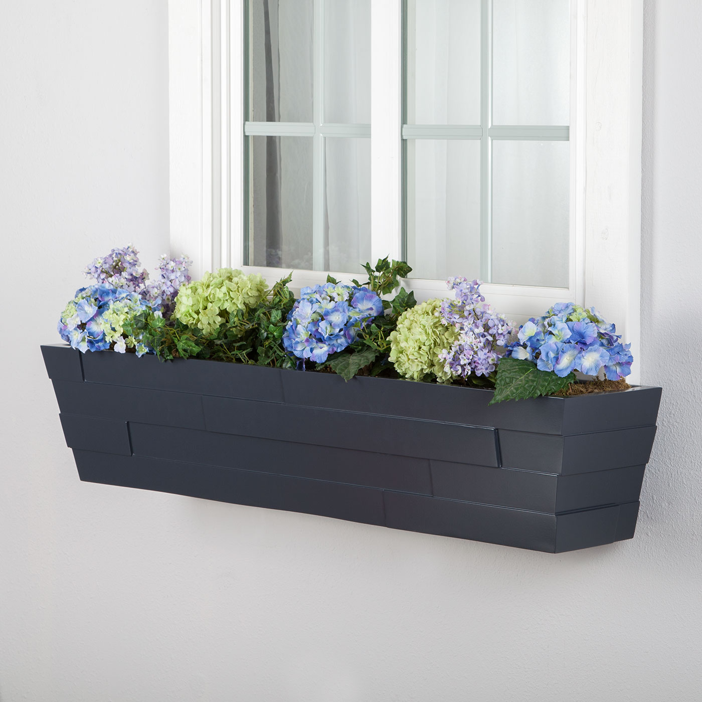 dimensional modern window boxes for homes  hooks  lattice - charcoal brickton fiberglass window boxes click to enlarge