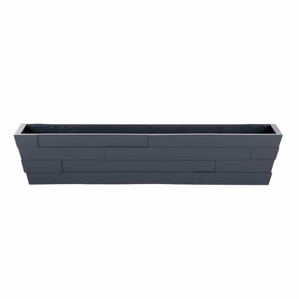 42in. Charcoal Brickton Fiberglass Window Box