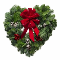 Christmas Love Heart Wreath