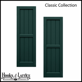 Custom composite wood window shutters hooks lattice for Composite wood panels exterior