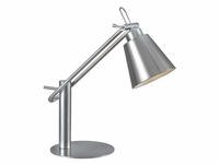 Classic Extended Head Desk Lamp - Brushed Steel