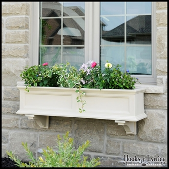 Clay Colored Prestige / Promenade Window Box Brackets - (Pair)