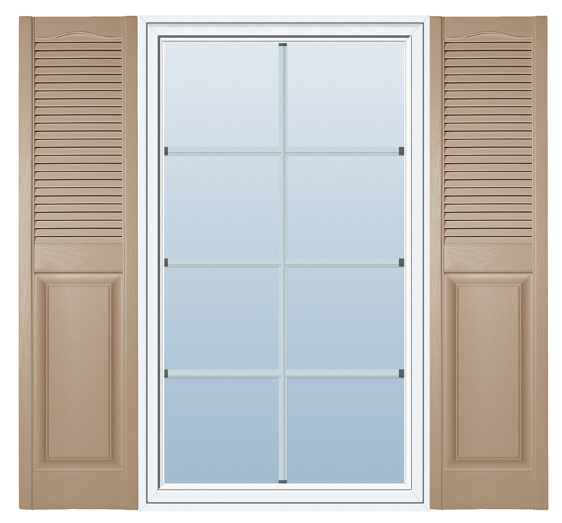 Combination Outdoor Window Shutters Decorative Hooks And Lattice