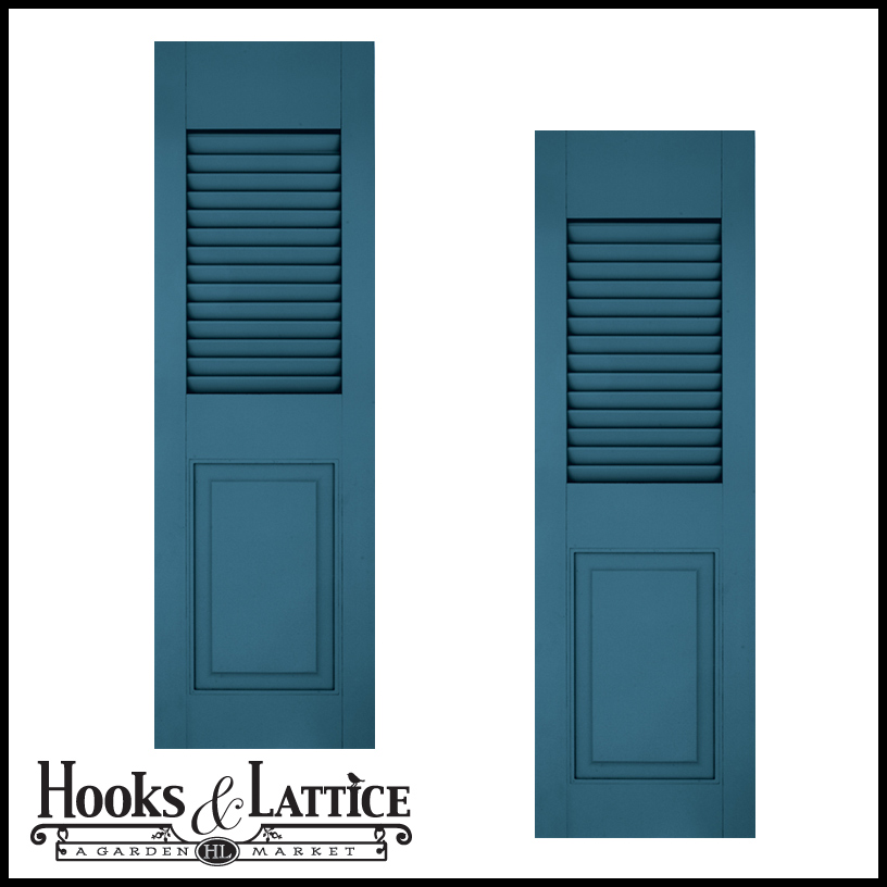 Combination outdoor window shutters decorative hooks for Window shutters
