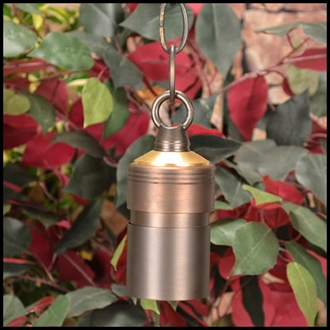 Comet Low Voltage Hanging Light W/ Chain - Weathered Brass