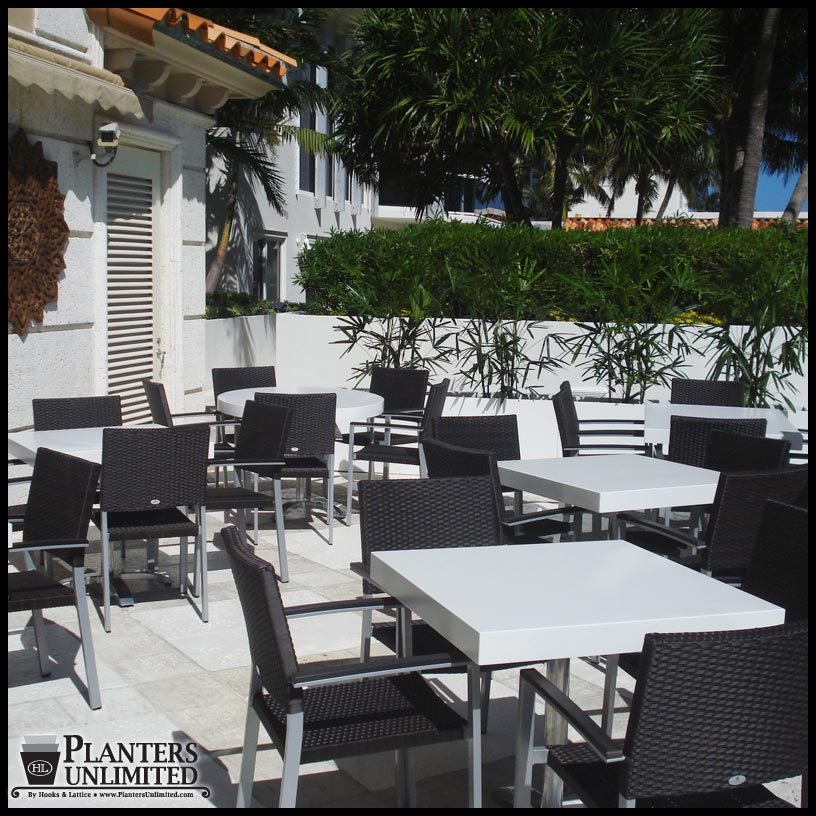 Fiberglass Tabletops Custom Tables Planters Unlimited - Outdoor table tops restaurant