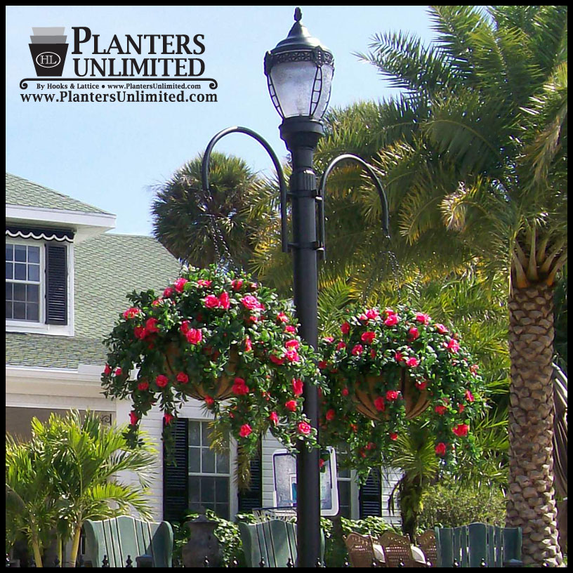 Commercial hanging basket brackets heavy duty wrought iron click to enlarge aloadofball