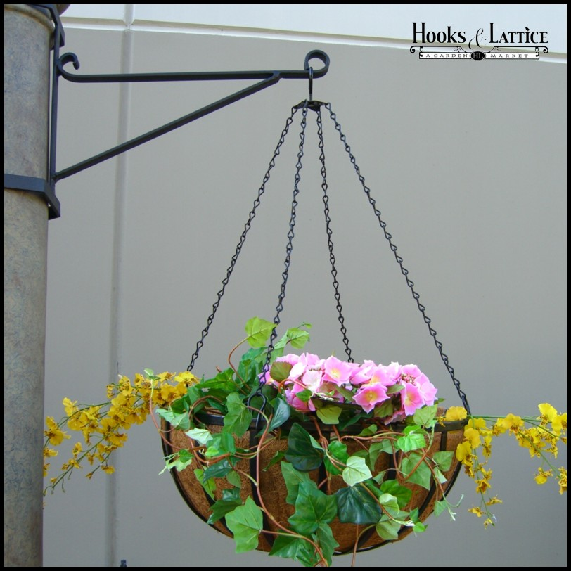 Commercial Hanging Basket Brackets Heavy Duty Wrought Iron
