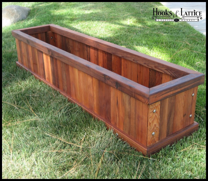 Redwood Planters Large Wooden Planters Planters Unlimited