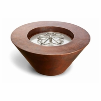 Miragio Round Copper Complete Fire Bowl - Match Light