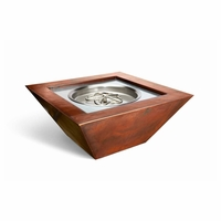 Sorrento Square Complete Fire Bowl - Match Light