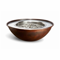 Tesoro Hammered Copper Complete Fire Bowl - Match Light