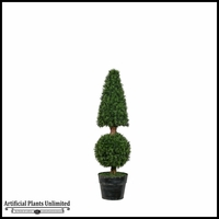 Cone Ball Fir In Tin Pot (2 Sizes)