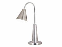 Cone Style Gooseneck Desk Task Light - Brushed Steel