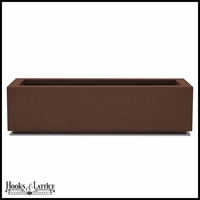Regatta Short Trough Planter with Toe Kick - Dark Brown