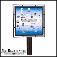 Contemporary Sign Holder 18in.W x 24in.H