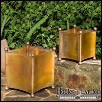 Copper Crest Set 2 Curved Square Planters