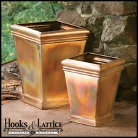 Copper Crest Set 2 Planters