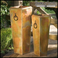 Copper Crest Set of 2 Tall Planters