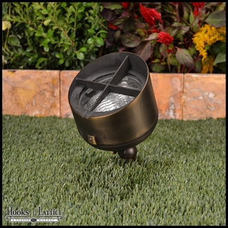 Cottage Curb Appeal Landscape Lighting Kit in Weathered Brass