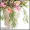 Cottage Home Pink Snapdragon Arrangement in Traditional Ceramic Pot