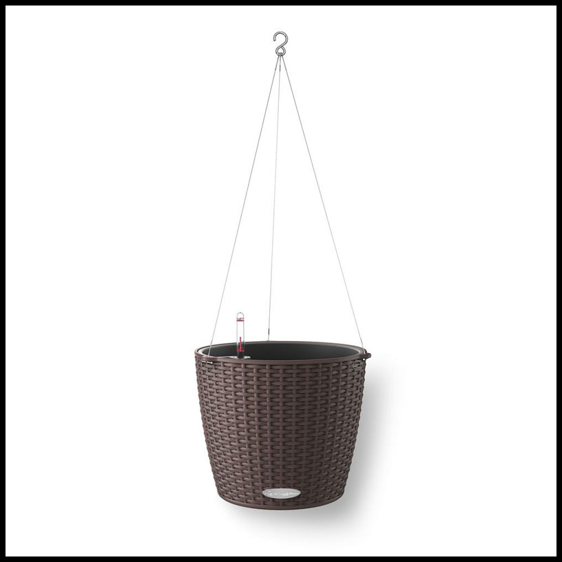 Cottage Weave Self Watering Hanging Basket W Stainless