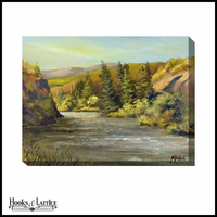 Country Winding Rivers - Canvas Artwork