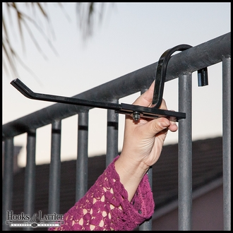 Countryside Railing Bracket - Black (Pair)