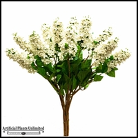 Cream and White Lilac Spray - Set of 12