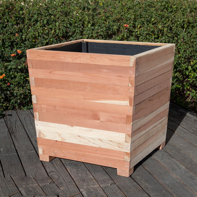 Commercial Redwood Planters With Feet Planters Unlimited