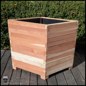 Cruz Rectangular Redwood Planter 48in.L x 18in.W x 24n.H