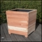Cruz Square Redwood Planter 24in.L x 24in.W x 24in.H