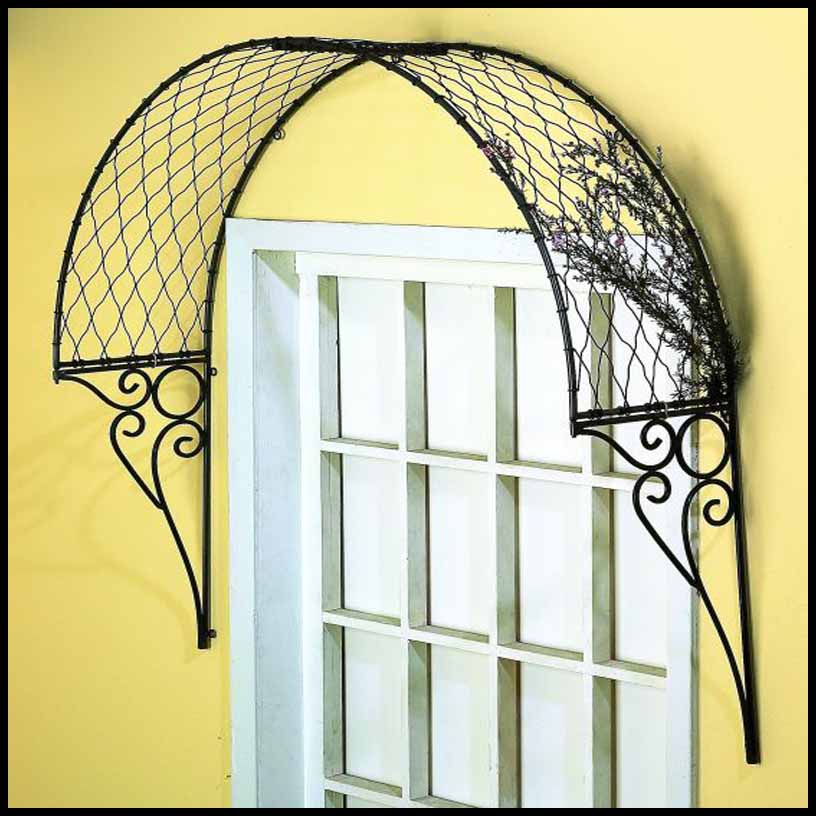 curved lattice window accent w scroll brackets