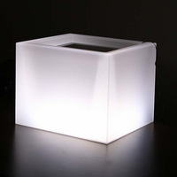 Custom 25in.L x 25in.W x 25in.H Illuminated Planter