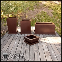 Custom Fiberglass Planter Set