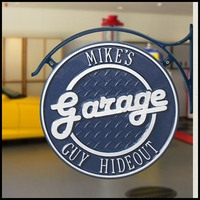 Custom Hanging Garage Plaque with Bracket