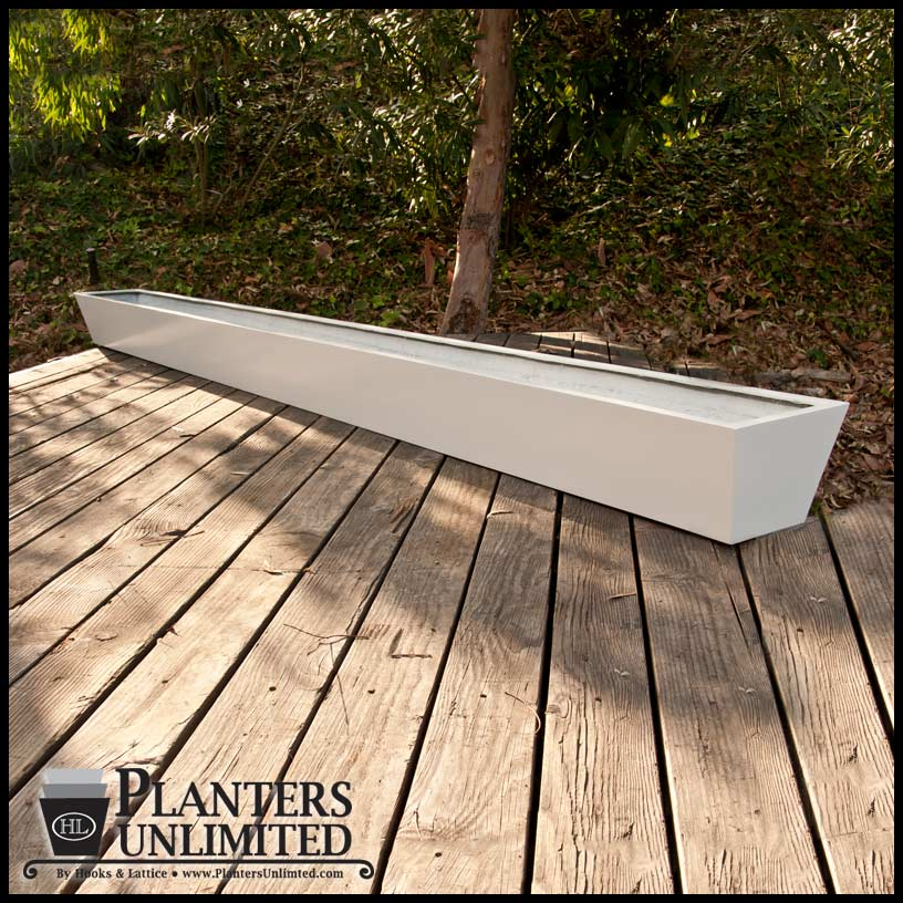 Custom Long Planter Boxes Modern Tapered Long Planters