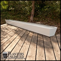 Custom Long Modern Tapered Fiberglass Planter