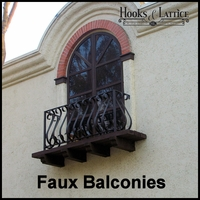 Custom Old World & European Faux Balcony Styles