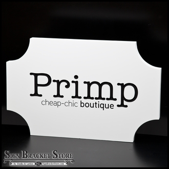 Custom Routed Wooden Signs
